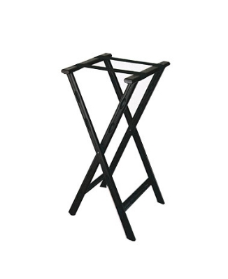 CSL 1500BLK-1 Folding Tray Stand w/ Black Straps, Black Plastic