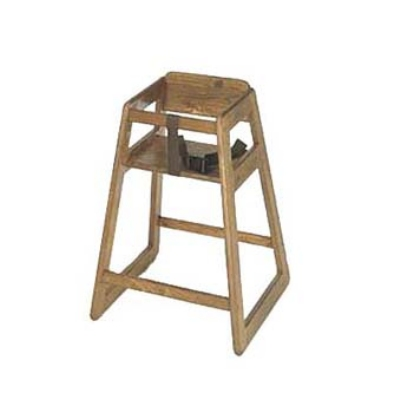 CSL 801DK Stackable Deluxe Wooden High Chair, Dark Finish