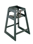 CSL 803BL Deluxe Wooden Stackable High Chair, Black