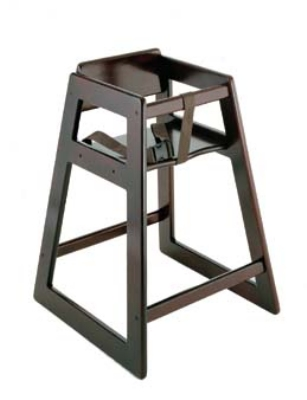 CSL 804MH Stackable Deluxe Wooden High Chair, Mahogany