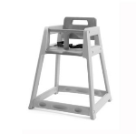 CSL Foodservice & Hospitality 850C-DGY Plastic Stackable High Chair w/ Casters, Gray