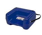 CSL Foodservice & Hospitality 857BLU-1 Booster Seat w/ Seat Belt & Dual Height, Extra Wide Base, Blue