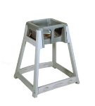 CSL 877DGY High Chair Infant Seat w/ Dark Gray Seat, Gray Frame