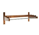 "CSL TEC24W 24"" Economy Wooden Coat Rack w/ Hanging Rod, Walnut"