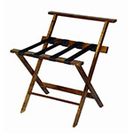 CSL TLR-100WBCM-1 Luggage Rack w/ Black Straps & High Back, Cherry Mahogany