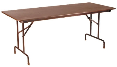 Royal Industries CORBT3060 Folding Rectangular Banquet Table, 30 x 60-in L, Walnut Finish