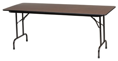 Royal Industries CORBT3072 Folding Rectangular Banquet Table, 30 x 72-in L, Walnut Finish