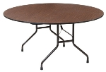 "Royal Industries CORBT60R Folding Round Banquet Table, 60"" Diam., Walnut Finish"