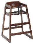 Royal Industries ROY702W Youth High Chair w/ Nylon Strap & Seat Belt, 3/4-in Walnut Hardwood