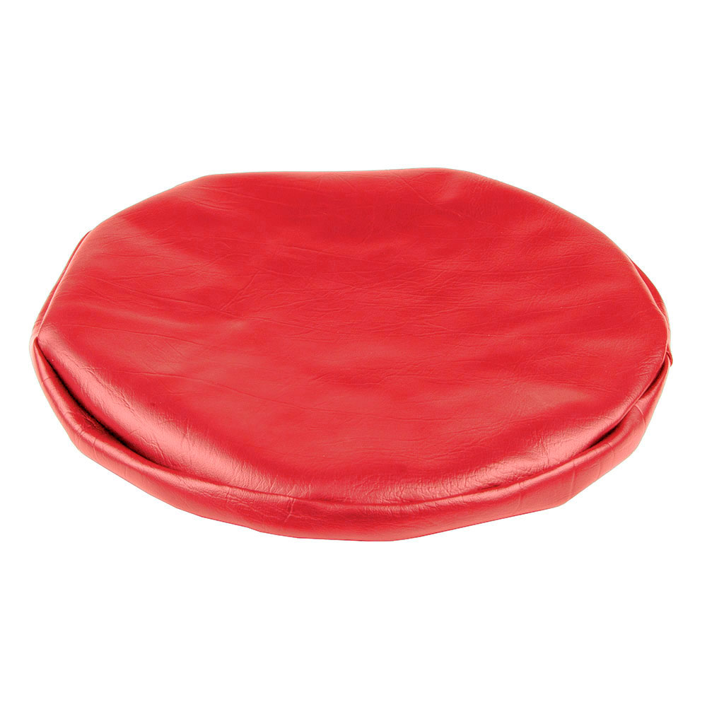 "Royal Industries ROY 720 CR 15"" Vinyl Stool Cover, Red"