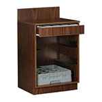 Royal Industries ROY 727 WA 2-ft Assembled Waitress Station w/ Rack Slides & 1-Drawer, Walnut