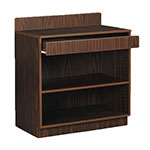 Royal Industries ROY 728 WA 3-ft Assembled Waitress Station w/ 1-Drawer & 1-Shelf, Walnut