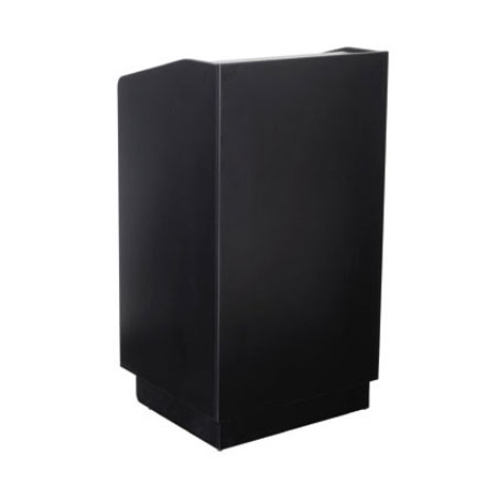 "Royal Industries ROY 733 B 46"" Assembled Podium w/ Black Laminated Melamine Finish"