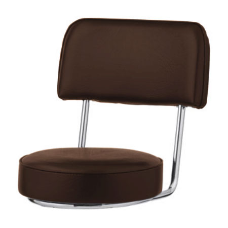 Royal Industries ROY 7715 SBRN Replacement Open Back Bar Stool Seat, Brown