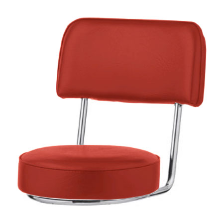 Royal Industries ROY 7715 SR Replacement Open Back Bar Stool Seat, Red