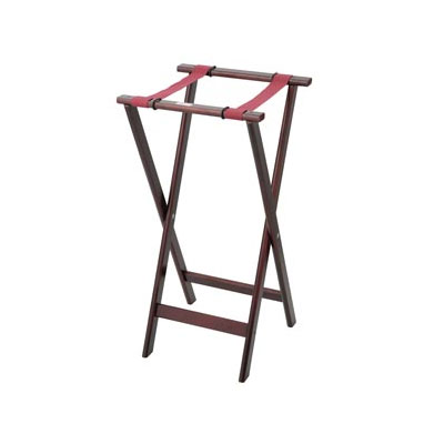 "Royal Industries ROY 773 32"" Wood Tray Stand w/ Walnut Finish"