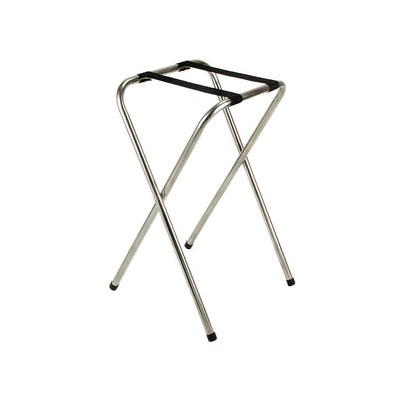"""Royal Industries ROY 775 32"""" Deluxe Chrome Tray Stand"""