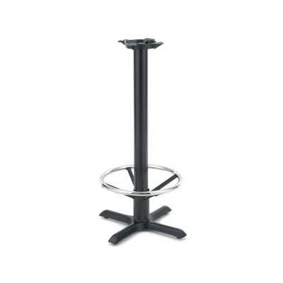 "Royal Industries ROY RTB 142 37.5"" Stand Up Table Base w/ Chrome Foot Rest & 22 x 22"" Base"
