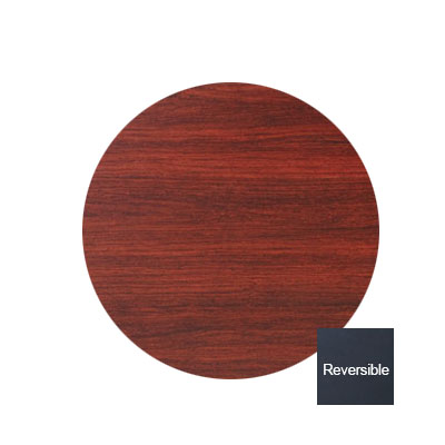 "Royal Industries ROY RTT BM 36 RT 36"" Round Reversible Black & Mahogany Wood Grain Table Top"