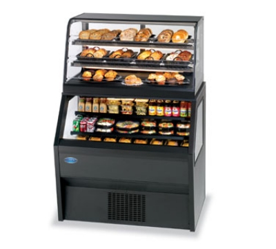 "Federal Industries CD4828SS/RSS4SC 48"" Self Service Deli Case w/ Curved Glass - (6) Levels, 120v"