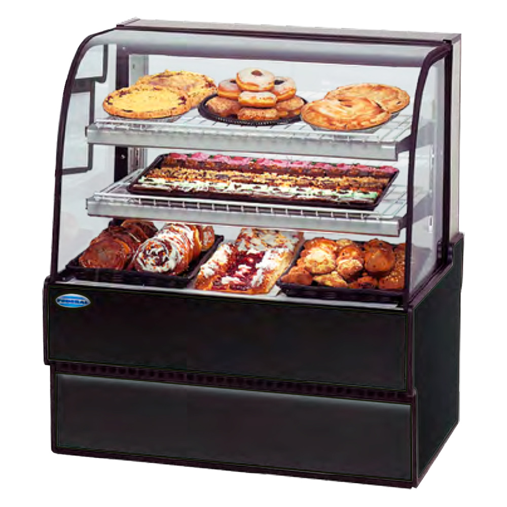 "Federal CGD5042 50"" Full Service Bakery Case w/ Curved Glass - (3) Levels, 120v"