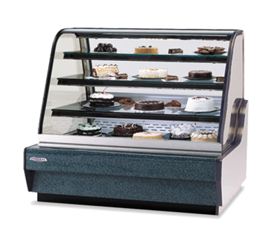"Federal Industries CGHIS-3 59"" Full Service Bakery Case w/ Curved Glass - (4) Levels, 120v"