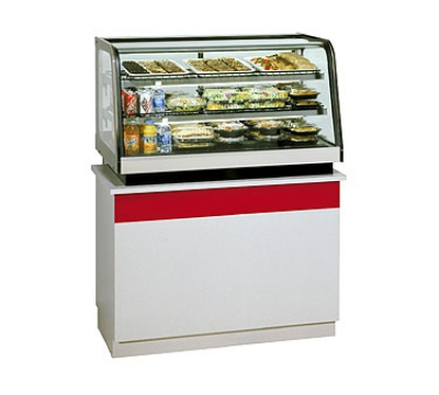 "Federal Industries CRB3628 36"" Countertop Refrigeration w/ Rear Access - Sliding Door, Black, 120v"