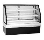 "Federal ECGD77 77"" Full Service Bakery Case w/ Curved Glass - (4) Levels, 120v"
