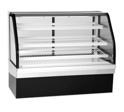"Federal Industries ECGD50 50"" Full Service Bakery Case w/ Curved Glass - (4) Levels, 120v"