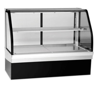 "Federal ECGR50CD 50"" Full Service Deli Case w/ Curved Glass - (2) Levels, 120v"