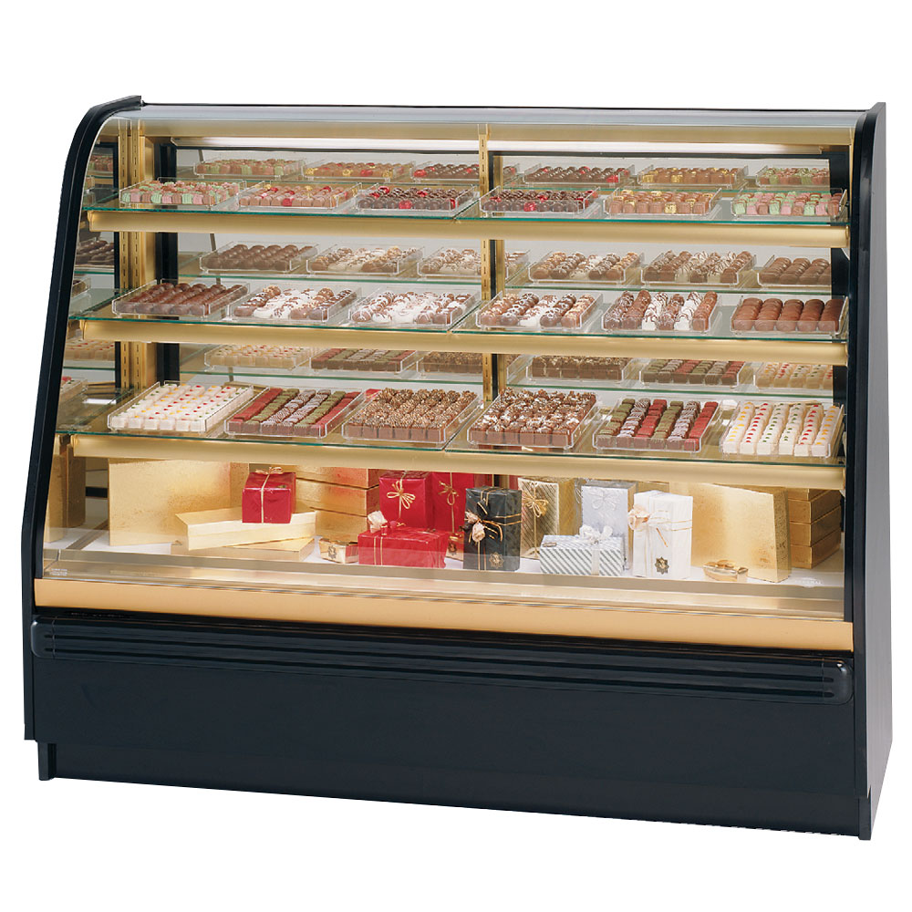 """Federal FCC-4 48"""" Full Service Bakery Case w/ Curved Glass - (4) Levels, 120v"""