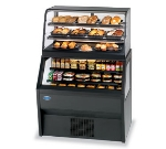 "Federal 2CD3628SS/RSS6SC 72"" Vertical Open Air Cooler w/ (6) Levels, Black, 120v"