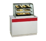 "Federal CD4828 48"" Full Service Deli Case w/ Curved Glass - (3) Levels, 120v"