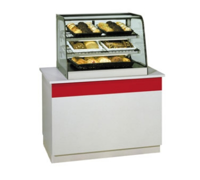 "Federal Industries CD4828 48"" Full Service Deli Case w/ Curved Glass - (3) Levels, 120v"