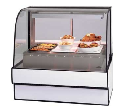 "Federal CG7748HD BLK 77"" Curved Glass Hot Deli Case w/ 5-Wells, Black"