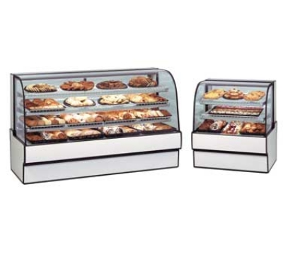 "Federal Industries CGD3648 36"" Full Service Bakery Case w/ Curved Glass - (4) Levels, 120v"