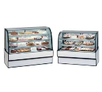 "Federal CGR5942 59"" Full Service Bakery Case w/ Curved Glass - (3) Levels, 120v"