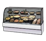 "Federal CGR7748CD 77"" Full Service Deli Case w/ Curved Glass - (2) Levels, 120v"