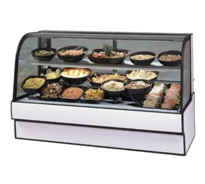"Federal CGR5048CD 50"" Full Service Deli Case w/ Curved Glass - (2) Levels, 120v"
