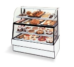"Federal CGR3660DZH 36"" Full Service Bakery Case w/ Curved Glass - (4) Levels, 120v"
