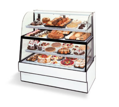 "Federal CGR5060DZH 50"" Full Service Bakery Case w/ Curved Glass - (4) Levels, 120v"