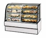 "Federal Industries CGR5948DZ 59"" Full Service Bakery Case w/ Curved Glass - (4) Levels, 120v"