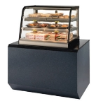 "Federal CH4828SS 47"" Self-Service Countertop Heated Display Case w/ Curved Glass - (3) Levels, 120v"