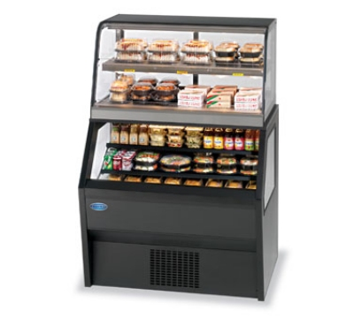 "Federal CH4828/RSS4SC BLK 48"" Refrigerated Merchandiser w/ Hot Service Top, Black"