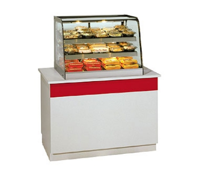 "Federal CH4828 47"" Full-Service Countertop Heated Display Case w/ Curved Glass - (3) Levels, 120v"