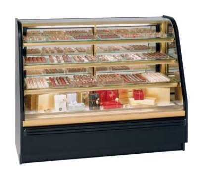 "Federal Industries FCC-6 72"" Full Service Bakery Case w/ Curved Glass - (4) Levels, 120v"
