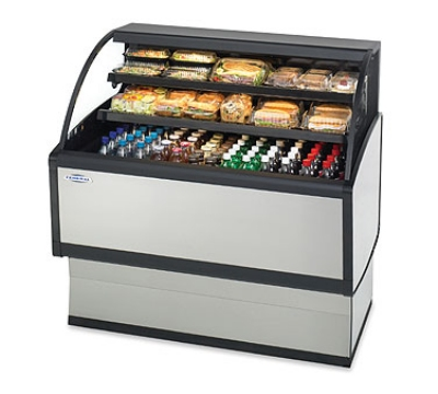 "Federal LPRSS4 48"" Self Service Deli Case w/ Curved Glass - (3) Levels, 120v"