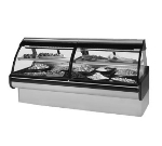"Federal MCG-1054-DC 122"" Full Service Deli Case w/ Curved Glass - (2) Levels, 115v"