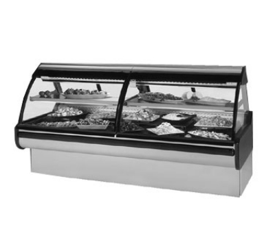 "Federal MCG-854-DC 98"" Full Service Deli Case w/ Curved Glass - (2) Levels, 115v"