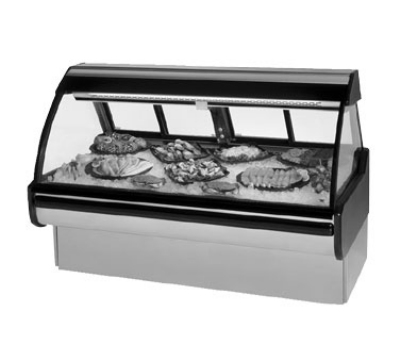 "Federal Industries MCG-654-DF 74"" Full Service Deli Case w/ Curved Glass - (1) Levels, 120v"